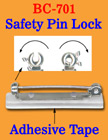 Safety Locked Pin Name Badge Clips With Plastic Pin Bases BC-701/Bag-of-100Pcs