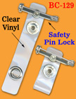 Safety Identification Card Holder Straps With Safety Pin Holders
