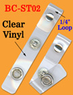 Riveted Plastic Loop Name Badge Straps For Round Cords, Strings or Flat Straps