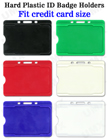 Hard Plastic Color Name Card Holders With Open Slots