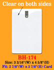 "Heavy Duty Clip-On Vertical ID Holder: 2 7/8""(W)x 3 7/8""(H) BH-174/Bag-of-100Pcs"
