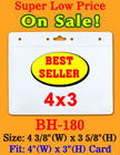"The Most Popular Low Cost Badge Holder For 4""(W)x3""(H) Name Badges or ID cards"