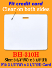 "Durable Horizontal Photo ID Holder: 3 1/2""(W)x 2 1/2""(H) Credit Card Size BH-310H/Bag-of-100Pcs"