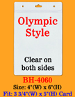 "Big Size Vertical Badge Holders: 3 3/4(w)x5(h)"" For Sports or Events BH-4060/Bag-of-100Pcs"
