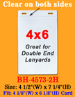 "4""(W)x6""(H) Large Event Badge Holders With Two Badge Clip Holes BH-4573-2H/Bag-of-100Pcs"