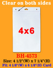 "4""(W)x6""(H) Big Size Name Badge Holders For Vertical Top Loading Inserts BH-4573/Bag-of-100Pcs"