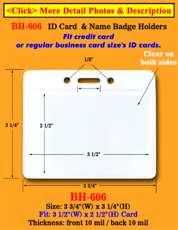 the most popular low cost credit card size badge holders 3 1 2 w