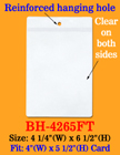 Economical Plastic Job Ticket Holders For Displaying Jobs, Pricings, Specifications Etc. BH-4265FT/Per-Piece