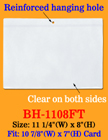 Large Size Plastic Fact Tag Sleeves For Product Specifications or Display Cards BH-1108FT/Per-Piece
