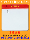 Red Color Stripe Horizontal Convention ID Holders BH-4845/Bag-of-100Pcs