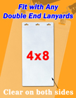 "4x8"" Super Large Badge Holders For Single & Double-End Lanyards BH-4590/Per-Piece"
