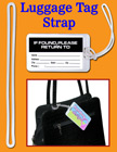Luggage Tag Fasteners, Plastic Name Tag Straps, Bag ID Name Badge Tag Loop Fasteners