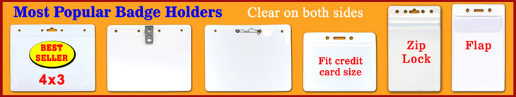 Most pouplar name badge holders & clear plastic ID card holders