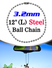"Long Bag Tag Ball Chains: 12"" Name Tag Ball Chains LY-7032-12/Per-Piece"