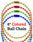 "Red, Blue, Green & Gold Color Luggage Tag Ball Chains: Wholesale 6"" Luggage Nametag Chains"