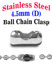 Stainless Ball Chain Connectors or Clasps - Bulk Pack LY-C7045S/Bag-of-50Pcs