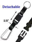 Carabiner Clips with Detachable Key Holder Straps CB-3060DBK/Per-Piece