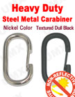 Heavy-Duty Metal Steel Carabiner Keychains