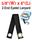 "6"" Carabiner Strap: Double Eyeleted Lanyard Connector LY-2E-404HD-EL08-06/Per-Piece"