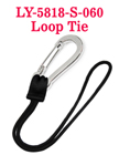 Durable Stainless Carabiner With String Loop Tie - Water Friendly LY-5818-S-060/Per-Piece