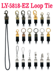 Ez-Metal Hardware Fasteners with Round Cord Loop Tie LY-5818-Ez/Per-Piece
