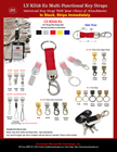 Multiple-Functional Key Straps: With Ez Hardware Attachment LY-KS58-Ez/Per-Piece