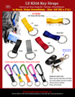 Short Key Straps: For Carabiners and Bolt Snap Hook Fasteners LY-KS58/Per-Piece