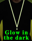 Glow In The Dark Cell Phone Straps: Cellular Neck Lanyards with Detachable Clasps LY-603GL/Per-Piece