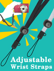 Adjustable Wrist Straps: For Cell Phones, Cameras or Small Devices LY-604-ADJ/Per-Piece