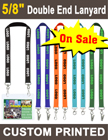 "5/8"" Custom Printed Event Lanyards With Two Ends"