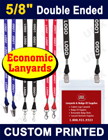 "5/8"" Economic Trade Show Lanyards - Custom Printed Lanyards With Two Ends LY-058E-DA/Per-Piece"