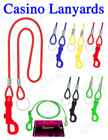 Casino Lanyards: Elastic Cord Card Keeper Lanyard Supplies