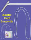 Elastic Lanyards: Wholesale: Stretchy Round Cords with Two-Ends and Two Metal Tips
