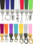"5/8"" Ez-Adjustable Heavy Duty Plain Color Neck Lanyards With Adjustable Length Capability"