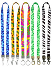 "5/8"" Ez-Adjustable Double Ended Art Printed Neck Lanyards With Two Hardware"