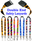 "5/8"" Ez-Adjustable Double Ended Art Printed Safety Neck Lanyards With Dual Ends LY-P-503HD-DA-Ez/Per-Piece"