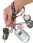 "Printed Wrist Lanyards: 5/8"" Ez-Adjustable Art Printed Wrist Straps LY-P-404HD-WS-Ez/Per-Piece"