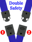 "5/8"" Ez-Adjustable Double Safety Neck Lanyards With Two Safety Breakaway Buckles"