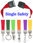 "5/8"" Ez-Adjustable Safety Neck Lanyards With Single Safety Breakaway Buckle"