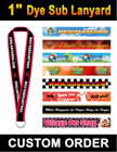 "1"" Big Size Custom Logo Lanyards with Dye Sublimations LY-406-Dye-Sub/Per-Piece"
