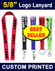 "5/8"" Full Color Dye Sub Lanyards with Custom Logo Printed"