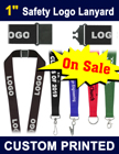 "1"" Custom Breakaway Lanyards with Custom Imprint"