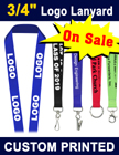 "3/4"" Screen Printed Lanyards With Customized or Personalized Logos."