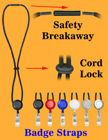 Retractable Safety Cord Lanyards With Badge Straps LY-411-RT-01/Per-Piece