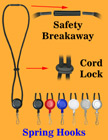 Retractable Spring Hook Safety Lanyards With Metal Hooks LY-411-RT-05/Per-Piece