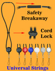 Retractable Universal String Breakaway Round Cord Lanyards LY-411-RT-06/Per-Piece
