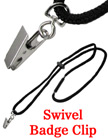 Safety Badge Lanyards with Name Badge Clips