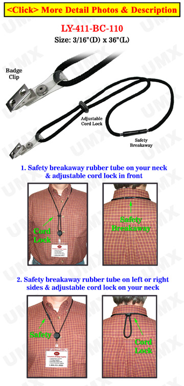 Secured Release Badge Holder Lanyards With Heavy Duty Cords