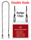 "LY-401-DA-BC 1/8"" Double-End Lanyrds With Badge Clips LY-401-DA-BC/Per-Piece"
