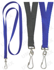 "LY-402HD-HK 3/8"" Polyester Heavy Duty Plain Lanyards with Swivel Hooks"